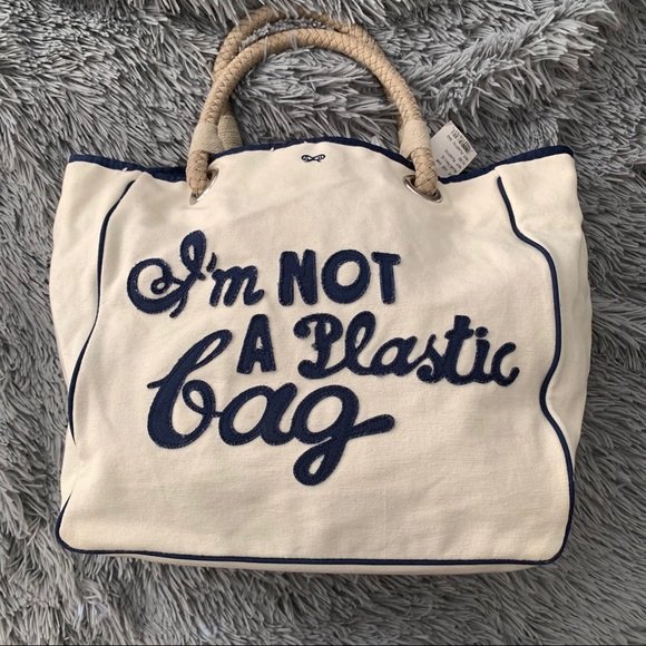 "ANYA HINDMARCH ""I'm not a plastic bag"" tote"